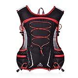 GemCoo 5L Hydration Pack Backpack Running Vest Outdoor Mochilas Trail Maratoneta da Corsa Gara di idratazione (Rosso)