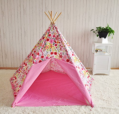 girls-pink-floral-wigwam-teepee-tipi-large-play-tent-tepee-perfect-birthday-gift