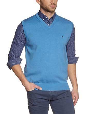 CASAMODA Herren Pullunder 004160/100, Einfarbig, Gr. Small, Blau (hellblau 100)