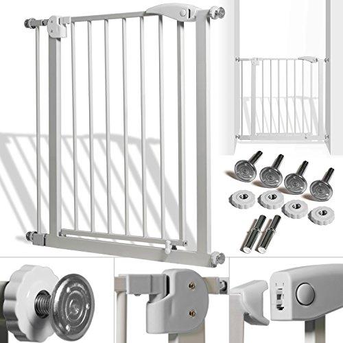Kidiz® Türschutzgitter ✓ Absperrgitter ✓ Treppengitter ✓ Kindergitter | Gitter Haustier | Farbe: Grau | Größe: 81-94 cm