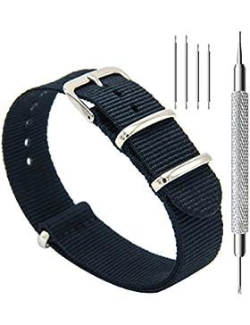 CIVO Armband Uhrenarmbänder Nato Uhren-Armband Premium Ballistic Nylon Uhrenarmband Ersatzarmband Edelstahl Wölbung...