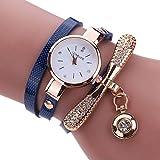 Damen-Armbanduhr Analog Quarz Leder Grau