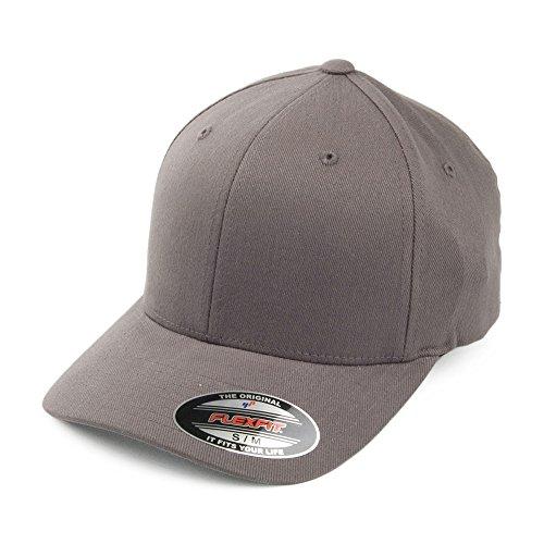 Village Hats Casquette en Coton Sergé Brossé Mid-Pro Gris Flexfit - Large/X-Large