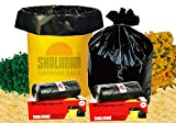 #9: Shalimar Virgin Garbage Bags (Small) Size 43 cm x 51 cm 6 Rolls (180 Bags) (Trash Bag / Dustbin Bag)