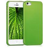 kwmobile Apple iPhone SE/5/5S Hülle - Handyhülle für Apple iPhone SE/5/5S - Handy Case in Metallic Hellgrün
