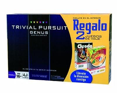 Juegos de Adultos Hasbro 98888500 - Trivial Pursuit Genus + Simon Viaje + Cluedo Viaje - Edición Master de Hasbro
