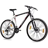 '26pulgadas MTB Mountain Bike Bicicleta CHRISSON allweger aluminio con 24g Deore negro blanco mate, color , tamaño 53 cm (Sw 73), tamaño de rueda 26.00 inches