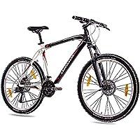26 pulgadas MTB Mountain Bike Bicicleta CHRISSON allweger aluminio con 24 g Deore negro blanco