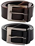 #5: Zacharias Men's Combo of 2 Belts Black & Brown
