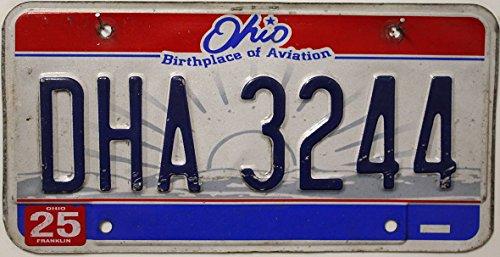 USA Nummernschild OHIO / Birthplace of Aviation ~ US Kennzeichen License Plate ~ Blechschild