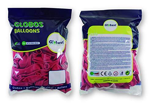 Globest- Globos de látex decoración, Color rojo (Festival 50265)