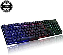 Prime Deals Mechanical Keyboard with Rainbow LED Backlight Effects
