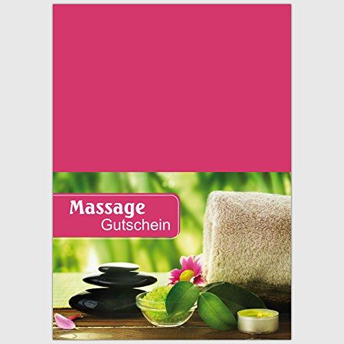 """Gutschein """"Massage – Hot Stone mit Handtuch"""" – Format: DIN A6, 25 St."""