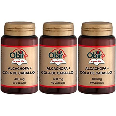 Alcachofa + Cola de Caballo 430MG 60 caps Obire . (Pack 3u.)