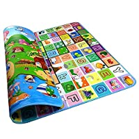 2mx1.8m Kid Baby Play Mat Floor Activity Happy Farm Rug Child Crawling Carpet