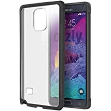 Orzly® - SAMSUNG GALAXY NOTE 4 Gel Funda en NEGRO - Protective Flexible Soft Silicone Phone Case Cover Skin para SAMSUNG GALAXY NOTE 4 SmartPhone - 2014 Modelo