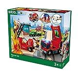 BRIO World 33817 - Bahn Großes Feuerwehr Deluxe Set, bunt