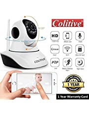 Colitive Wireless HD IP WiFi CCTV Camera for Home/Office Security, 128 GB SD Card Supported, 360 Degree View, Night Vision