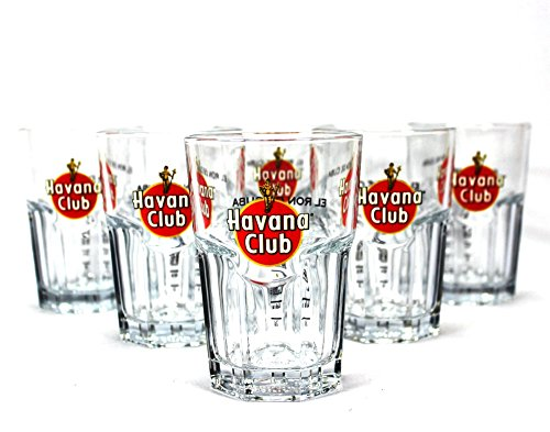 Original Havana Club Rum Gläser 6er Set ~mn 15 7k2r Havanna Club
