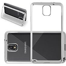 Cadorabo - Cubierta protectora para Samsung Galaxy NOTE 3 (N9006) de silicona TPU en diseño Cromo - Case Cover Funda Carcasa Protección en Transparente con CROMO-PLATA