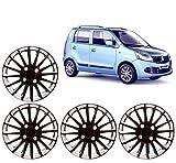 #1: Auto Pearl - Premium Quality Car Full Wheel Cover Caps Black and Silver 13 Inches Press TypeFor - Maruti Suzuki WagonR