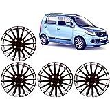 Auto Pearl WC_CMRY_DC_13_WagonR 13-inch Black and Silver Wheel Cover Cap for Maruti Suzuki Wagon R (Set of 4)