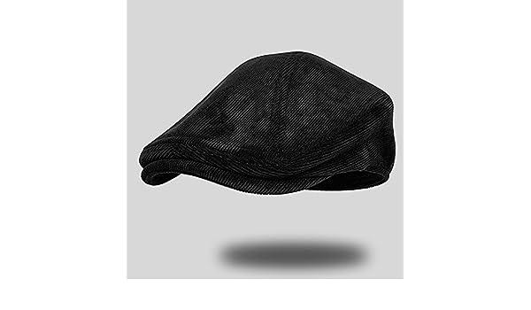 4980464aad9 GUYOULY Big Head Light Lamp Cap Black Duckbill Cap Male Beret Hat   Amazon.co.uk  Sports   Outdoors