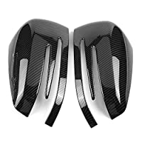 DEALPEAK 2Pcs/Set Car Side Rearview Mirror Cap Cover Trim for Mercedes A B C E GLA Class W204 W212, Automotive Carbon Fiber External Mirror Shell Decorative Accessories
