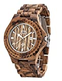 Herenhorloge Mens Dimensions 44 mm diameter geval van de houten zebra Japan Quartz Sale