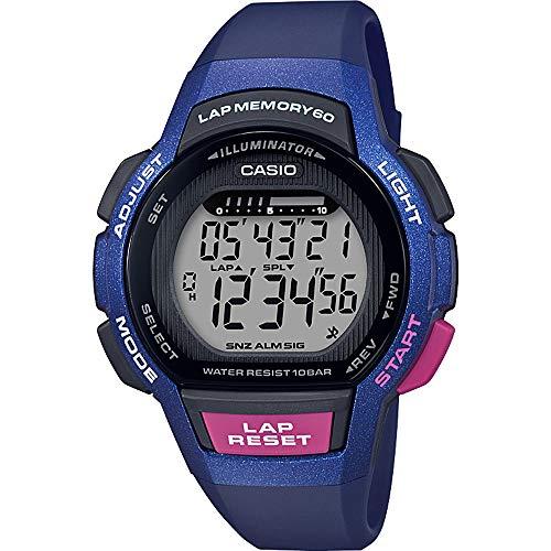 CASIO Damen Digital Quarz Uhr mit Harz Armband LWS-1000H-2AVEF