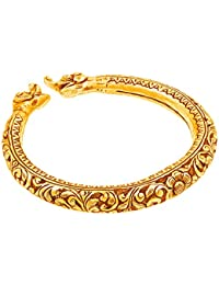 Ahilya jewels Dakshin Collection .925 Sterling Silver Gold Plated Cuff