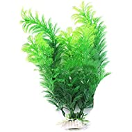 Sanwood Fish Tank Aquarium Decoration Green Artificial Plastic Underwater Plant