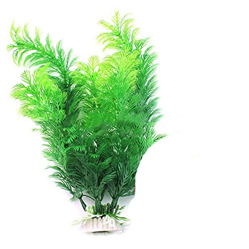 Sanwood Fish Tank Aquarium Decoration Green Artificial Plastic Underwater Plant Test