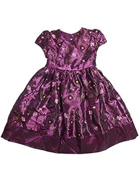 Marmellata Princess Cinderella Mädchen Petticoat Kleid mit Pailletten veredelt und Blumen bestickt Lila 122