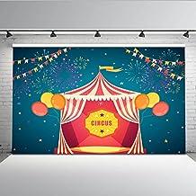 Mehofoto circo carpa telón de fondo 7x5ft carnaval fuegos artificiales coloridos estandartes centelleo estrellas telones de