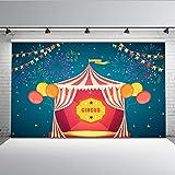 Mehofoto circo carpa telón de fondo 7x5ft carnaval fuegos artificiales coloridos estandartes centelleo estrellas telones de fondo sin costura niños fiesta decoración fotografía fondo