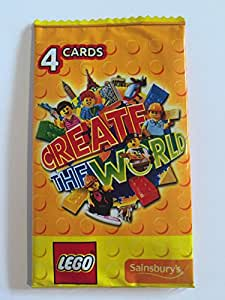 20 lego create the world cards 5 packs of 4 yellow. Black Bedroom Furniture Sets. Home Design Ideas