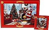 LP, Set di 4 tovagliette e sottobicchieri con Babbo Natale di Fire