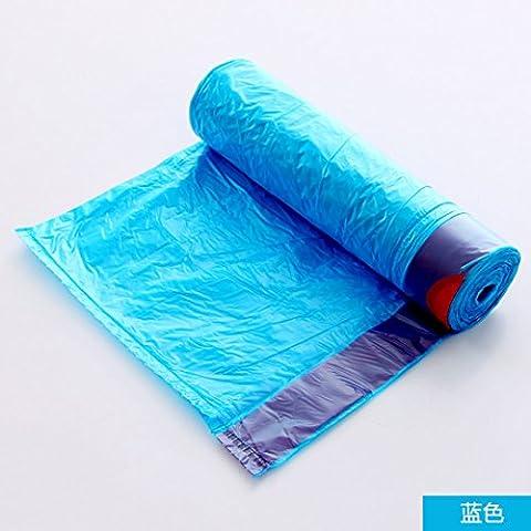 Besoins quotidiens du mobilier WWYXHQC Le silence gardé automatiquement de sacs à déchets d'épaisseur cordon poche accueil cuisine d'Enfilage ficelle sac en plastique de CUHK vest, bleu sac épaissi ,6264