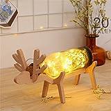 FONKIN LED Nachtlicht Deer Lichter Schlafzimmer Lampe Einfache Cartoon Dekorative Moderne Geschenk,Purple