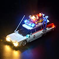 BRIKSMAX Led Lighting Kit for Ghostbusters Ecto-1- Compatible with Lego 21108 Building Blocks Model- Not Include the Lego Set