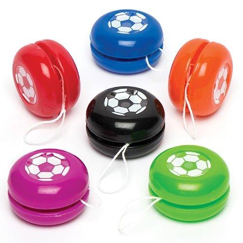 Baker Ross Mini-yoyos Ballons de Football pour Enfants- Cadeaux pour Pochettes-Surprises pour Enfant (Lot DE 6)