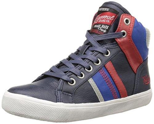 Kaporal Tourya, Sneakers Hautes garçon Bleu (Marine/Rouge)
