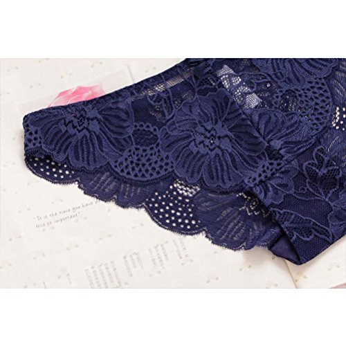 Zhhlinyuan Gute Qualität Casual Ladies Luxury Seamless Hipster Panty Skin-friendly Lace Underwear Hollow Lingerie Multicolor Light Red