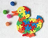 #10: Baybee Premium Counting Cartoon Animal Wooden Letters Jigsaw Puzzles,Family Game for Kids,Interactive Educational Toys for Baby Preschool Toddler Boys Girls Assorted Colour ( Pack of 2 )