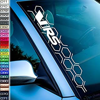 VRS Auto Aufkleber Wabenmuster Frontscheibenaufkleber Tuning Sticker V-RS Skoda -26 Farben