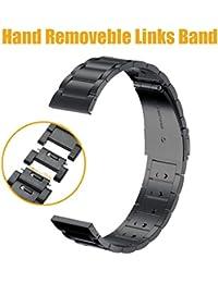 loveblue für Samsung Gear S3Classic/Frontier Smartwatch Band 22mm Edelstahl Ersatz Schnalle Strap Handgelenk Band für Samsung Gear S3Frontier/Classic, verstellbar mit Hände