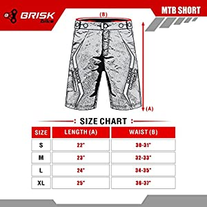 Brisk Bike Mtb ropa para bicicletas de montaña ropa de ciclismo, accesorios de bicicleta, pantalones cortos para ciclismo
