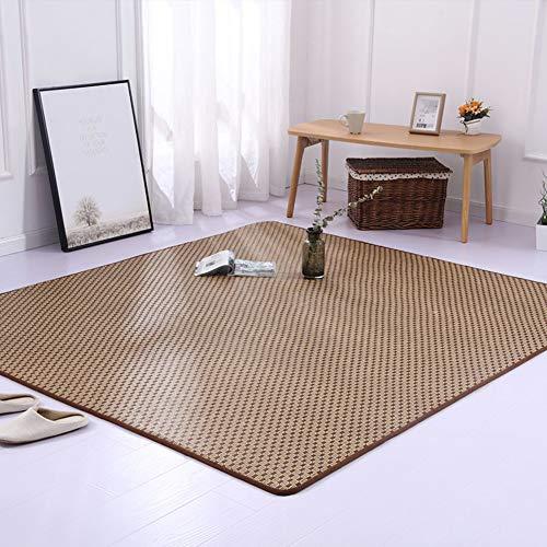 ssok pad Rattan Tatami Teppich EIS Seide Matte Anti-rutsch Stock-matratze Sommer Bett Decke Wohnzimmer Schlafzimmer-b 400x200cm/157x79inch -