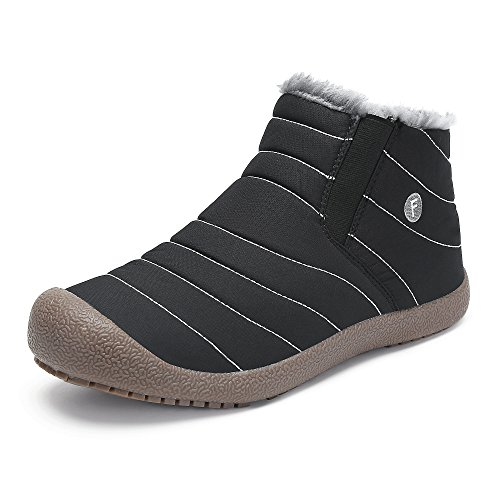 b88fd180dbea SAGUARO Herren Damen Winterschuhe Warm Gefütterte Boots Stiefelette Outdoor  Schneestiefel Winter Schuhe High top schwarz